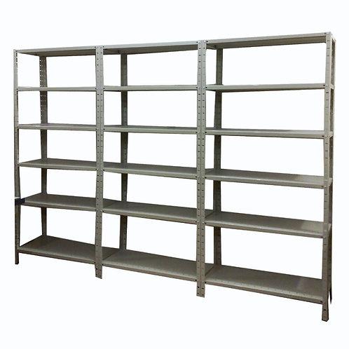Kit estantes de aço modulares 30cm com 6 prateleiras