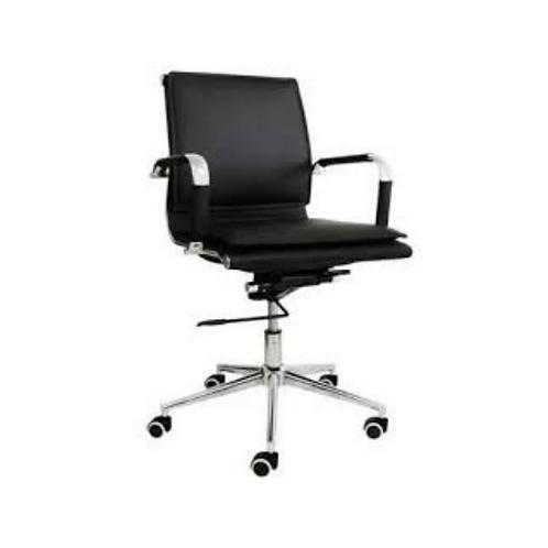 Cadeira Diretor Em Couro Pu Preto Pel-8003l