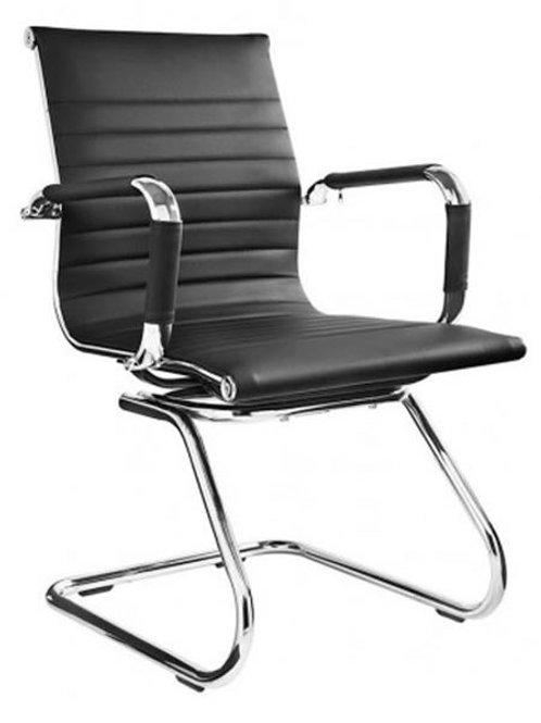 Cadeira fixa Diretor visitante couro ecológico