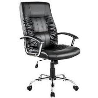 Cadeira giratória Presidente em Couro PU Preta
