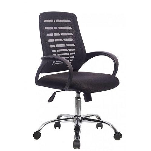 Cadeira Diretor giratória Tela Mesh Preta com braços