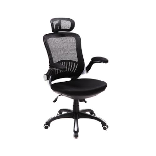 Cadeira giratória Presidente tela mesh com braços