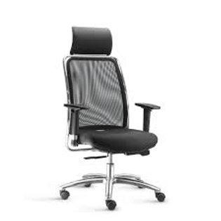 Cadeira De Escritório Presidente Encosto Em Tela Regulável Frisokar - soul
