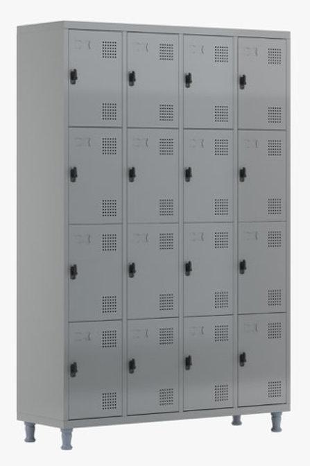 Roupeiro de aço Armário vestiário loker 16 portas pitao cadeado