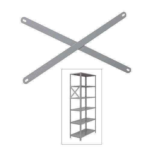 Haste Lateral para estante de aço Modular 30cm