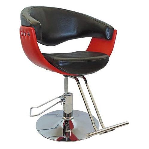 Cadeira Preta E Vermelha Para Salão E Barbearia Pel-028