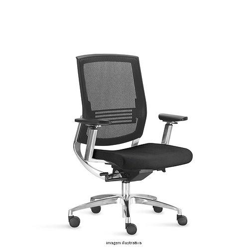 Cadeira giratória Presidente tela mesh com braços Fit Air