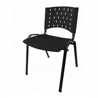Cadeira fixa secretaria em polipropileno empilhável