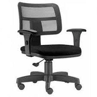 Cadeira giratória executiva telada braço digitador