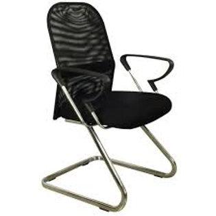 Cadeira fixa diretor visitante tela mesh com braços