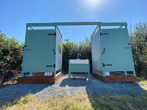 Glamping Shower and Toilet Unit
