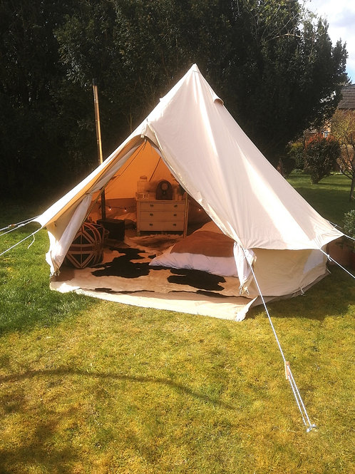 4m Bell Tent with Zipped in Groundsheet