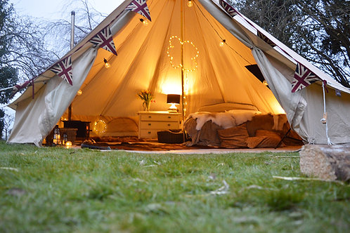 6m Bell Tent with a Zipped in Groundsheet