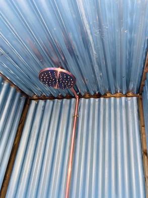 copper soaking shower head