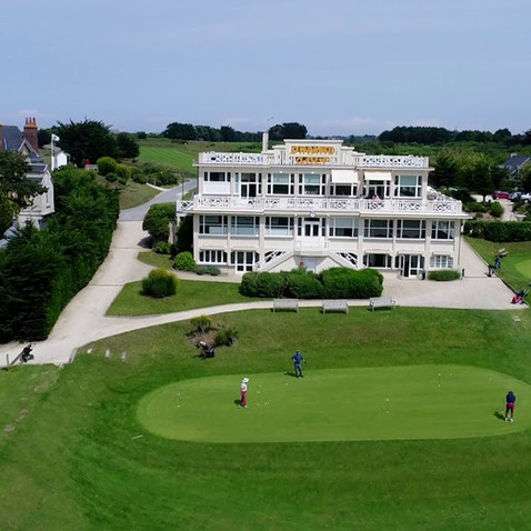 Golf and great drone footage of location