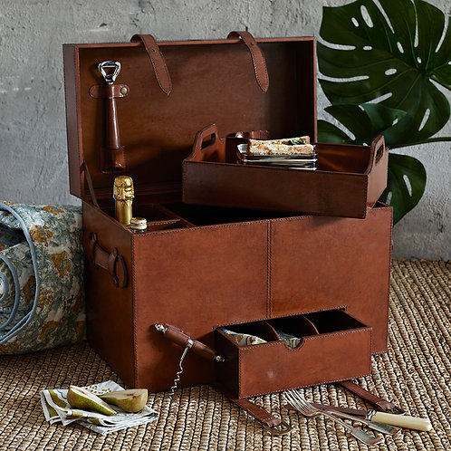 Leather Picnic Case