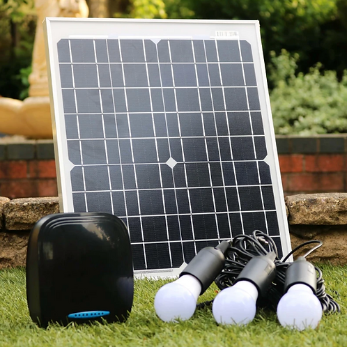 Solar Panel and Battery Back with LED lights and USB charging ports
