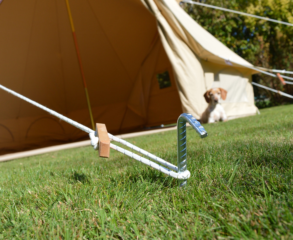 Bell tent guy ropes