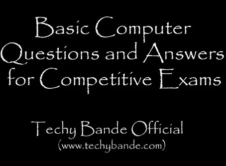 Competition Exam Computer Questions