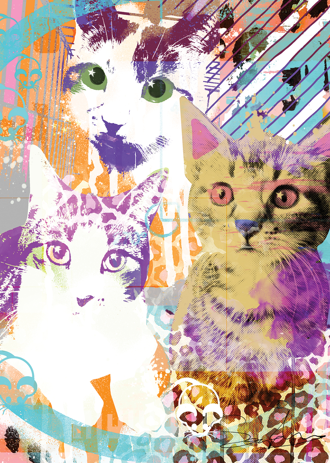 Pop art van je katten