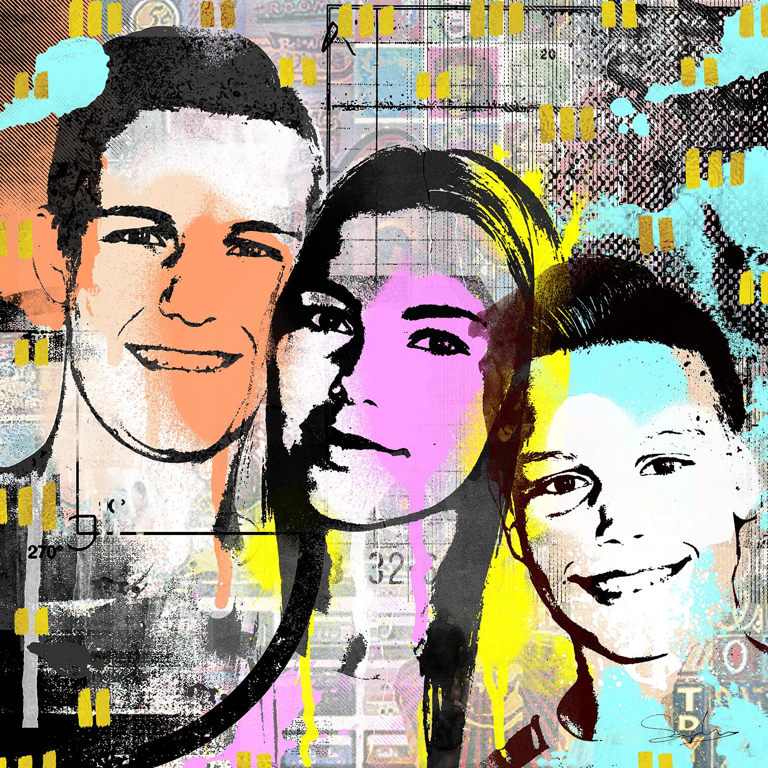 Drie kids samen