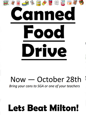 PHS Canned Food Drive