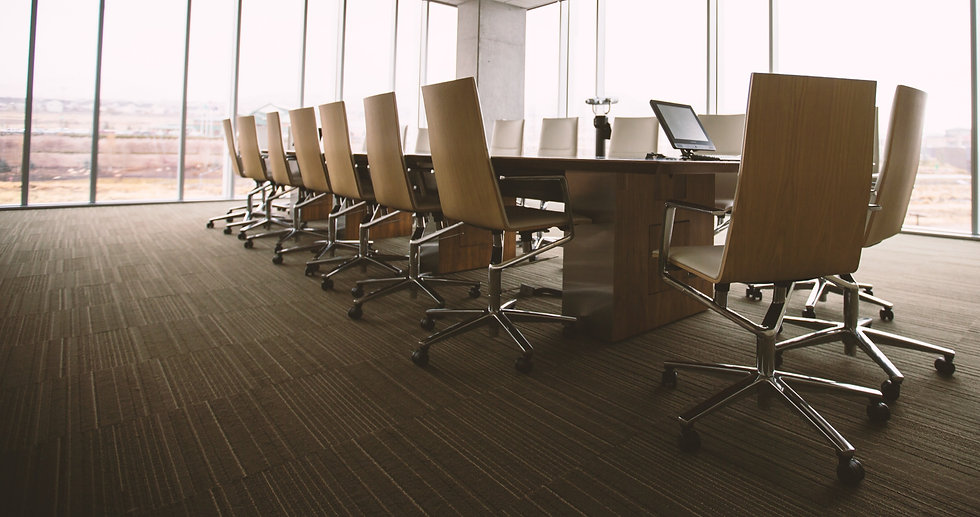 Conference Table w/ Pedestal Leg, and Executive Seating