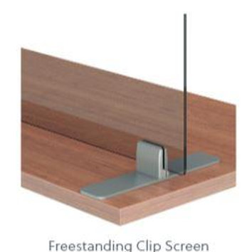 """Lexan 1/4"""" Freestanding Clip Screens with Cut-Outs"""