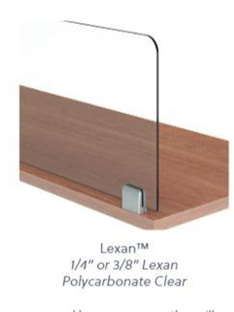 """Lexan 1/4"""" Worksurface Mount"""