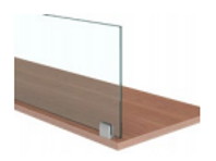 """Glass 1/4"""" Worksurface Mount Clip Screens"""