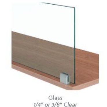 """Glass 1/4"""" Worksurface Mount"""