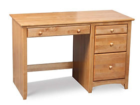 Arch Alder Writing Desk With Drawers Jpg