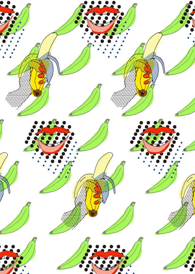 Eating green banana