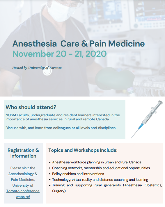 Anesthesia Care & Pain Management (Nov 2