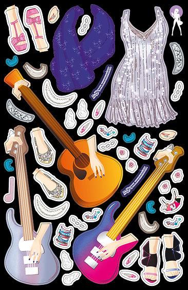 © Valérie Salvo pour playBac, So Fashion So Chic, Portfolio Concert Pop Star, stickers