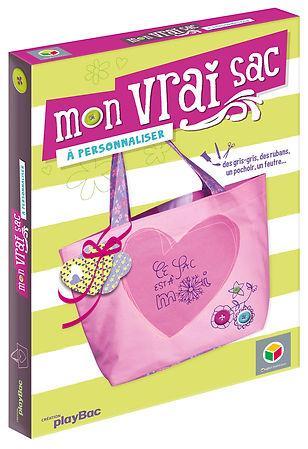 © Valérie Salvo pour playBac et Oxybul, Mon vrai sac à personnaliser, Coffret