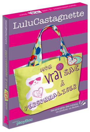 © Valérie Salvo pour playBac et Lulu Castagnette, Mon vrai sac à personnaliser, Coffret