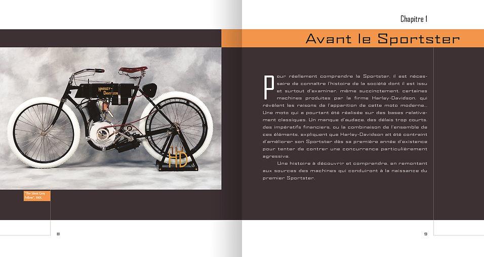 © Valérie Salvo pour ETAI, maquette livre, Le Sportster