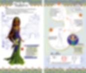 © Valérie Salvo pour playBac, collection Lili Chantilly, Princesses du monde, Maquette intérieur