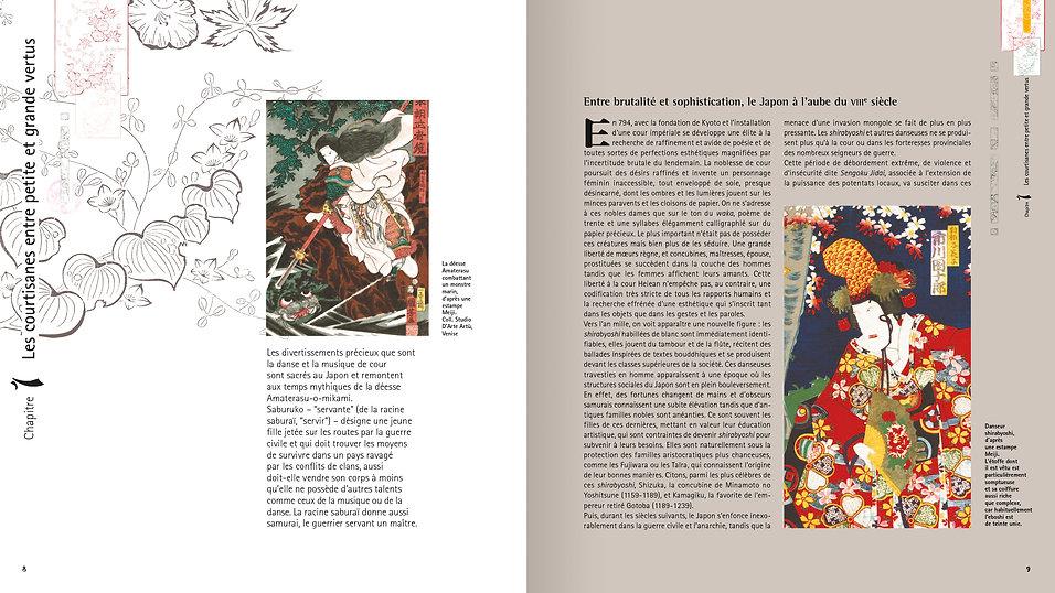© Valérie Salvo pour Du May, maquette livre, Geishas