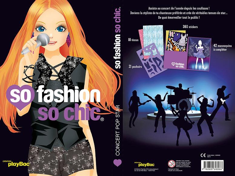 © Valérie Salvo pour playBac, So Fashion So Chic, Portfolio Concert Pop Star, couverture