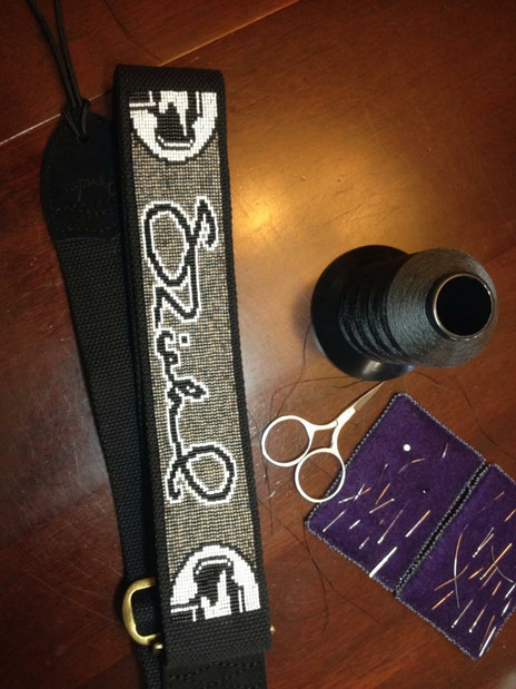 Loomworked Guitar Strap with Signature design