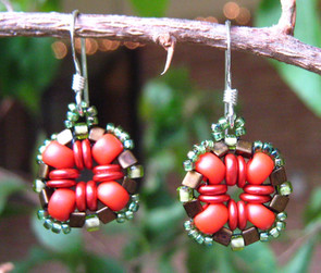 Stitched Bead earrings