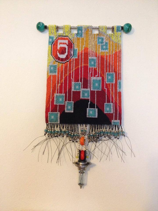 Loom woven wall tapestry