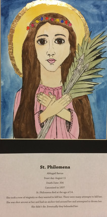 Art II- Saints Cards -Abbygail