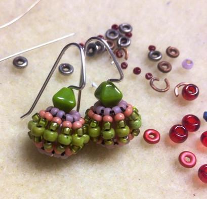 Beaded Bead earrings