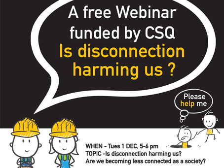 Webinar -Is disconnection harming us?