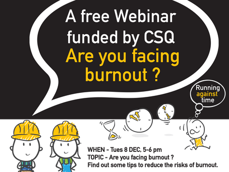 Webinar - Are you facing burnout?