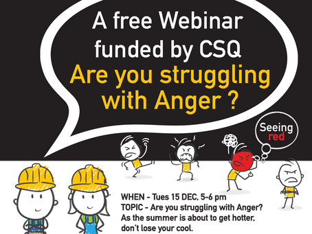 Webinar - Are you struggling with anger?