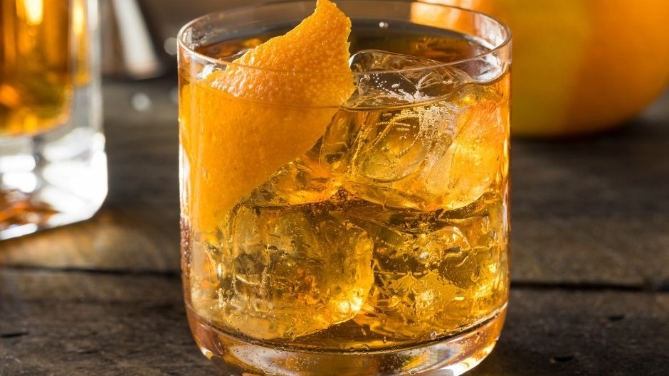 Plank Smoked Old Fashioned